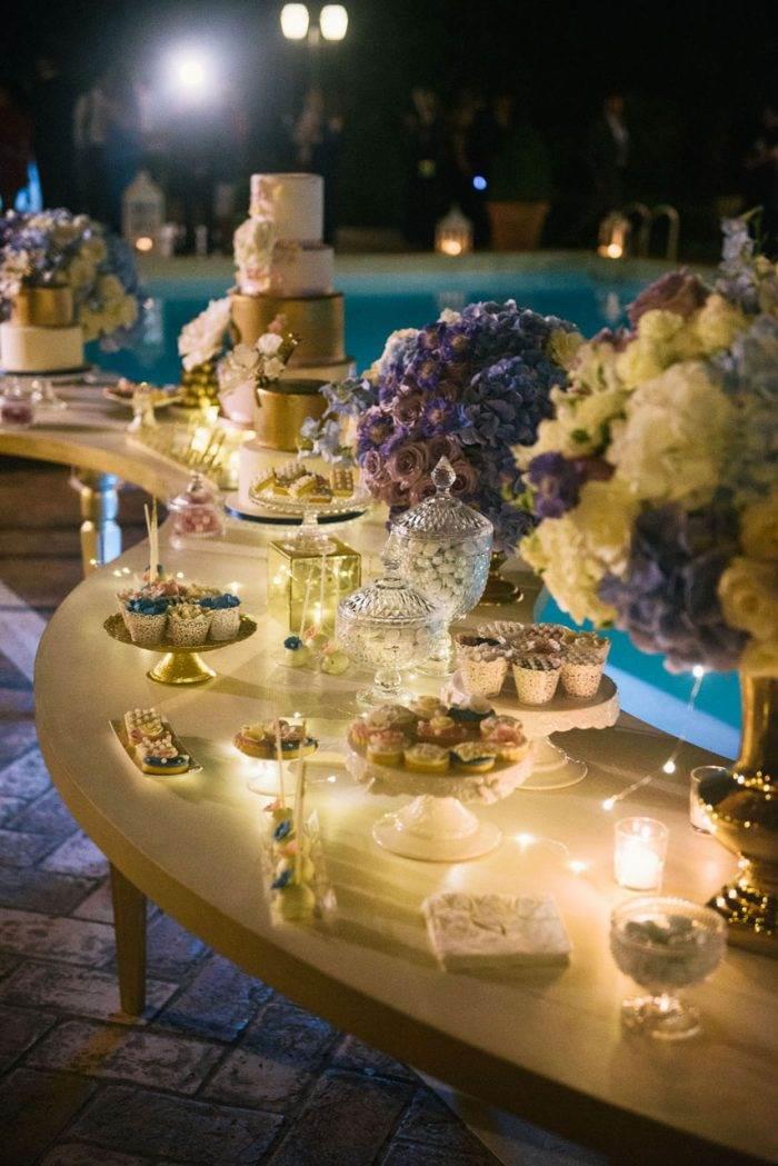 immagini-di-matrimonio-addobbo-oro-e-blu