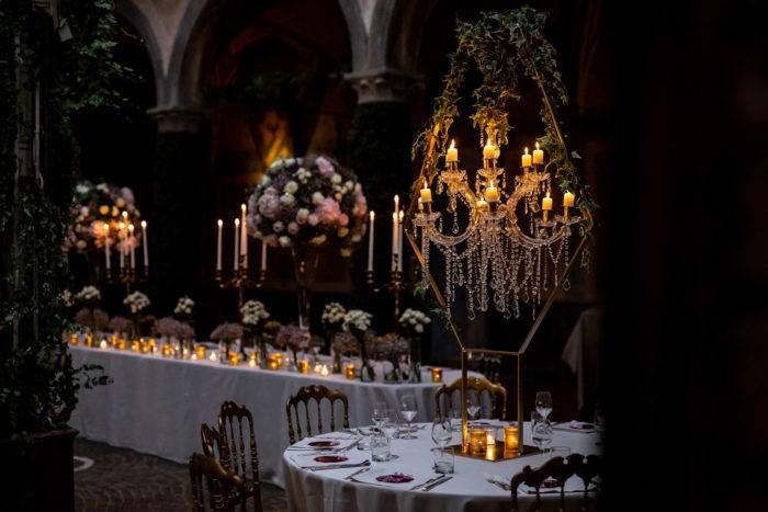 organizzatore feste allestimento sala raffinato