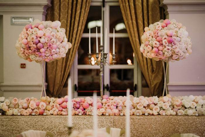 flowers in sala allestimento raffinato