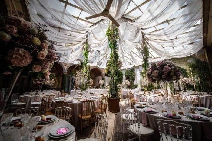 foto eventi allestimento floreale tavoli