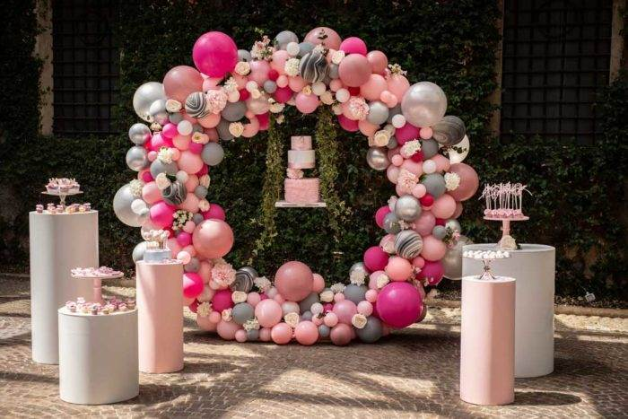 foto eventi torta e palloncini