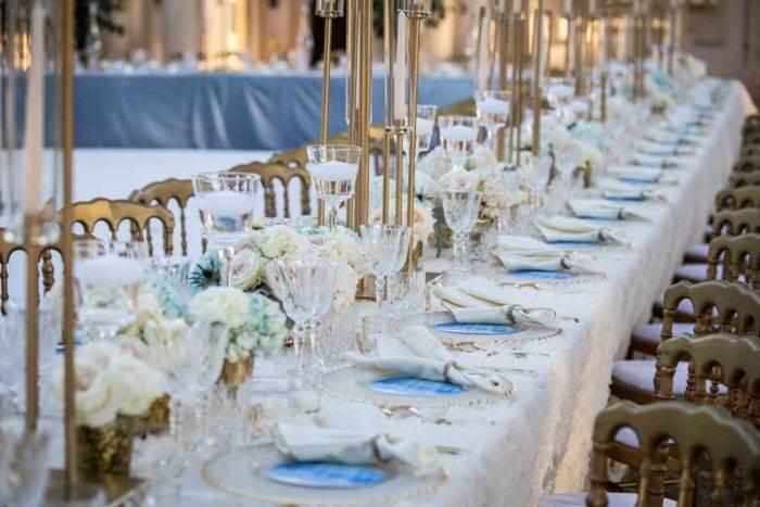 immagini di matrimonio allestimento tavolata