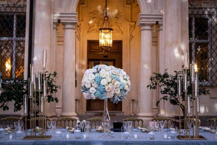 immagini di matrimonio tavolo allestito